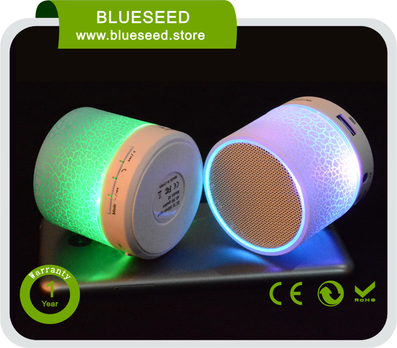 cheap bluetooth speaker mp3 earphone hole usb colorful light mini portable bluetooth wireless speaker yx-1