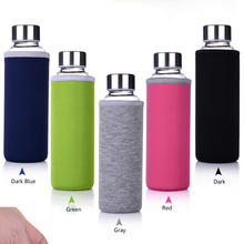 Hotsale neoprene cup bottle cooler sleeve with Polyester handle