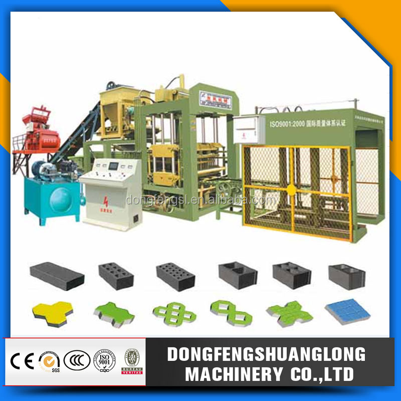 QTY8-15 China concrete brick making machine/clay brick making machine