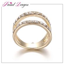 Fashion ring finger rings photos gold ring design with crystal for women