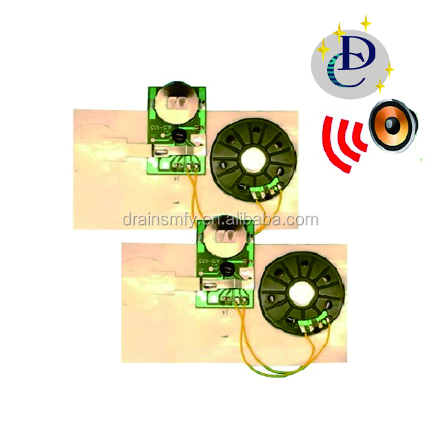 Recordable silde Sound melody module for greeting card or paper bag