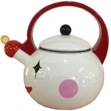 2.8L Enamel Clown Shaped Kettle / Enamel Animal Tea Pot / Best Selling Multi Colored Stcok Enamel Pot