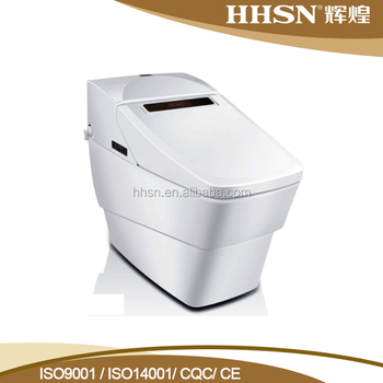 Hot Sell Floor Mounted black Dual Flush Intelligent Toilet