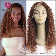 Top Quality Human Hair Natural Afro Wigs , Kinky Curly Full Lace Wigs For Black Women