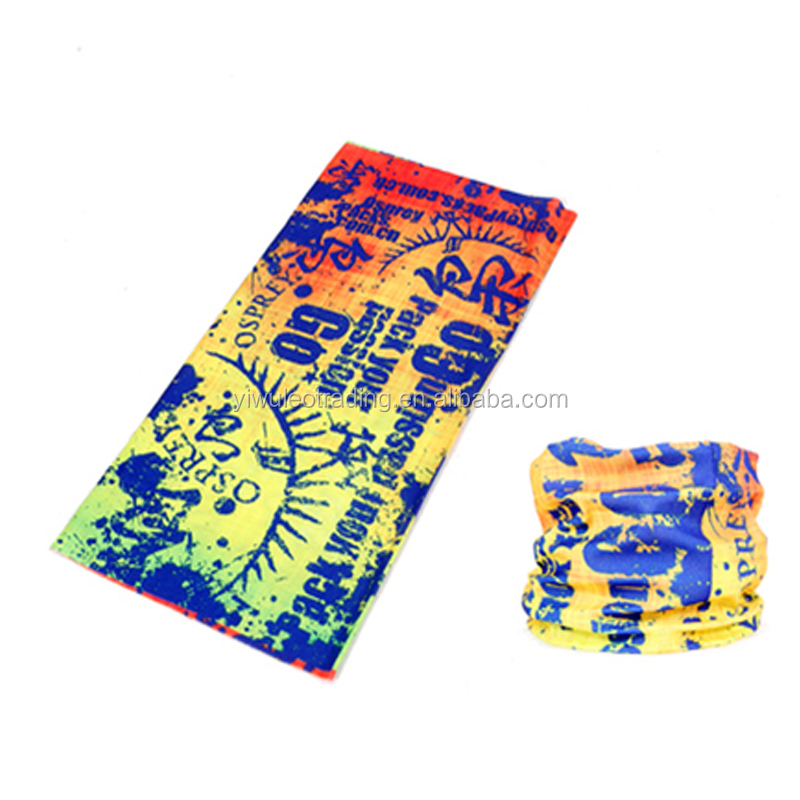 Wholesale Cheap Custom 25*50cm Headwear 100%Polyester Microfiber multi outdoor tubular bandana