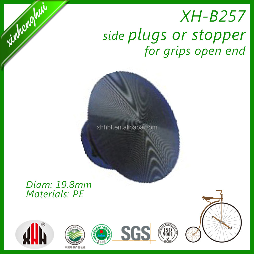 XH-B257 handlebar grips open end side's plugs or stoppers of bike spare plastic parts or bicycle accessories