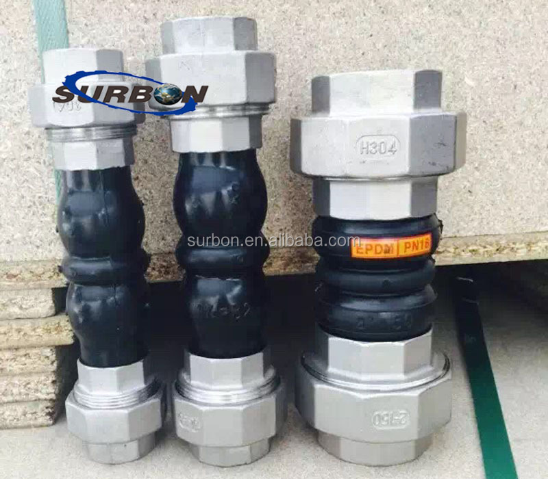 Double ball EPDM /NBR/NR union type rubber joint