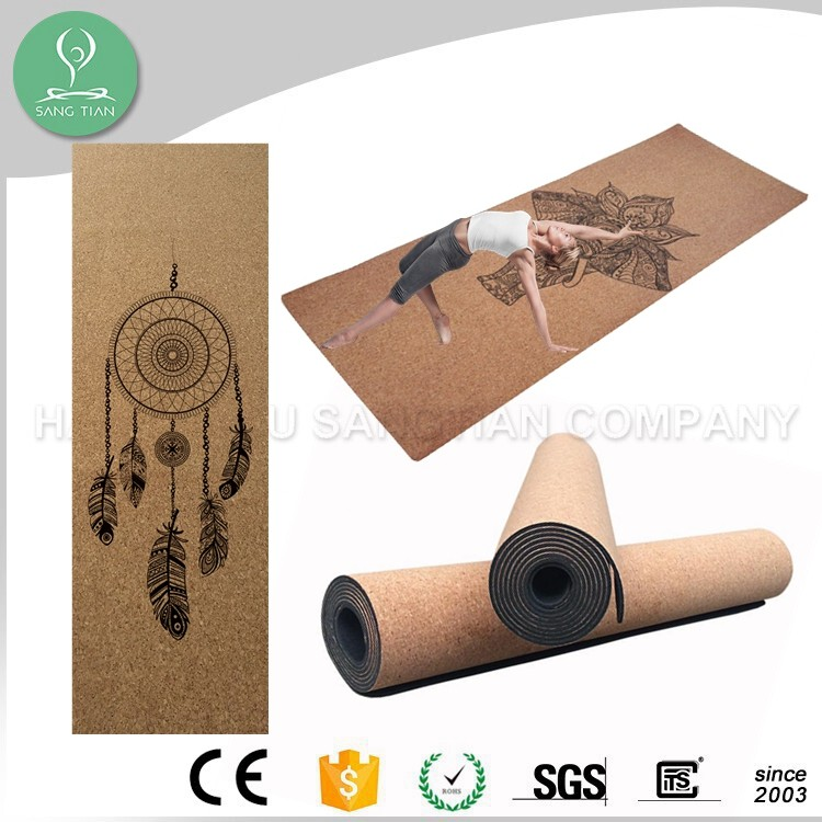Factory price natural rubber eco friendly yoga mat suede microfiber printed yoga mats custom