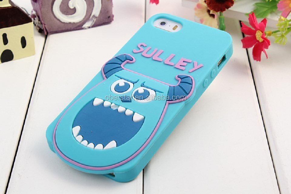 for iPhone 5S 3D Animal Shaped Cartoon Character Phone Case Cover