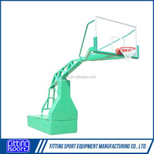 FIBA Standard Manual Hydraulic Basketball System Removable Portable Basketball Goal/Hoop/Frame