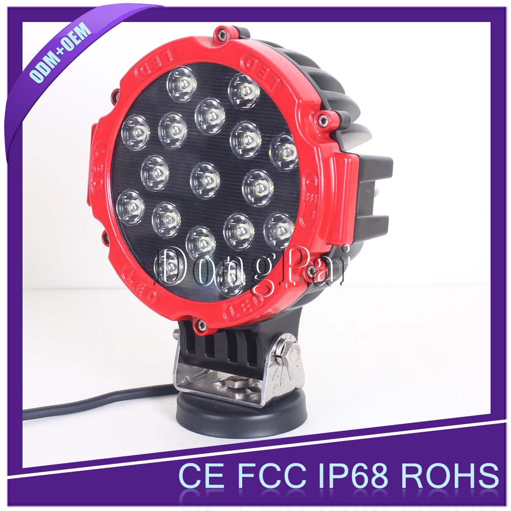 51w led work light with magnetic base 12v 24v off road led work lamp automobile, truck, bus led working lamp
