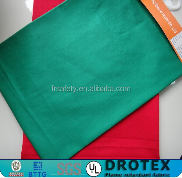china supplier wholesale NFPA2112 woven material textile flame retardant cotton satin fabric for workwear