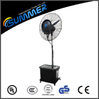 Outdoor summer strong power electric water spray fan