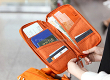 E-Charm Factory China Supplier Traveling Organizer/Nylon Long Ticket Holder/Passport Bag