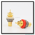Gold Plated Pure Copper RCA Chassis Socket Audio Speaker Female Connector Audio RCA Plug