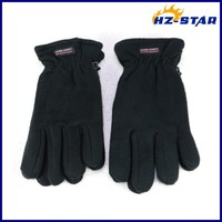 HZS-13064005 new useful touch snow custom winter bike warm cheap black Velcro knitted crochet half finger gloves