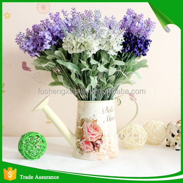 Wholesale high quality silk artificial lavender flowers for wedding decoration