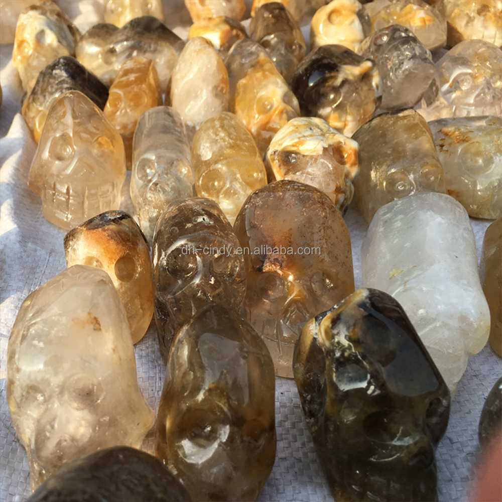 100% Wholesale High Quality Hand Carved Rough Crystal Skull