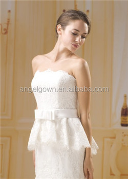 Elegant love forever wedding dress imported from china Bowknot belt description of wedding dress