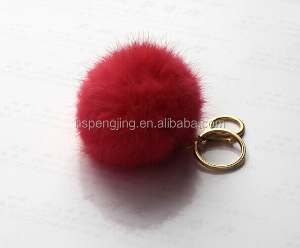 Faux Fur Ball /Artificial Rabbit Fur Poms / Key Chain for Womens Bag or Cellphone or Car Pendant
