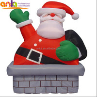 Custom made giant animated inflatable father christmas with competitive price
