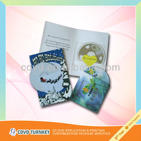 Wholesale customized high quality mini cd copy