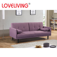 Loveliving New Design Purple Fabric Sofa Bed