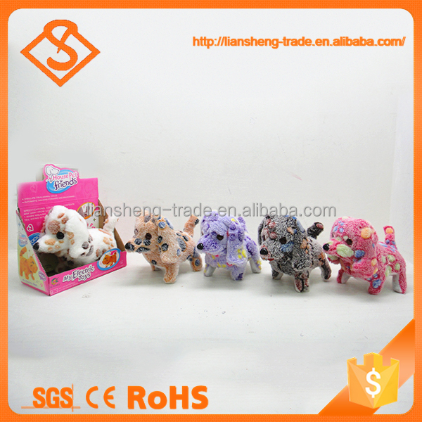 Good quality battery operated fashion pattern plush toys animals with sound
