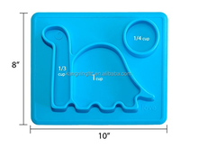 Dinosaur Shape Silicone Kids Placemat, Baby Feeding Mat