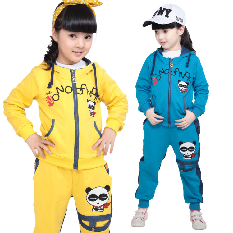 Children's clothing female child autumn 2014 autumn female child set child plus size casual twinset