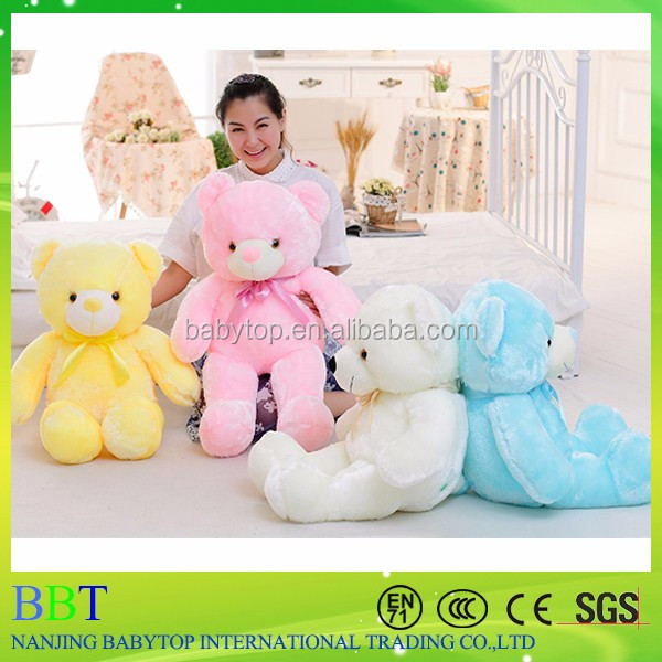 hot sale high quality fashion light up 50cm 80cm led teddy bear