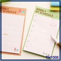 european stationery memo pad with sticky note glue Weekly Daily My Schedule custom sticky notes