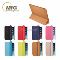 for ipad pro smart cover, high quality leather case microfiber inside with strong magnet 8 colors in stock