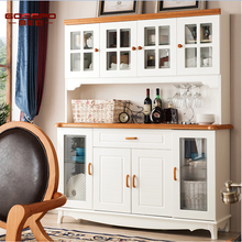 White Paint Wine Cabinet Modern Solid Wood Wine Cabinet Design