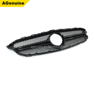 Custom color silver chrome black AMG style front bumper grille mesh grills radiator grill for Mercedes-Benz C class W205