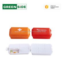 7 compartment small medical plastic pill box with dividers
