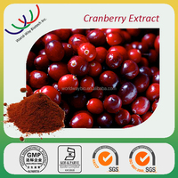 China factory FDA cGMP HACCP KOSHER 20% anthocyanin 25% Proanthocyanidin cranberry extract powder