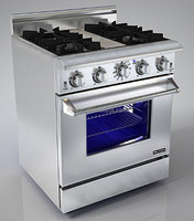 "Hyxion Pro Series - Gas Range with Warming Drawer - Built-in - 30"" - Stainless Steel - HRG3080U"
