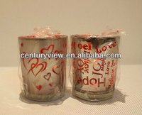 cup shaped glass votive candle holder for sale