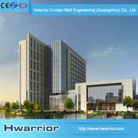 Hwarrior Factory Best Price One-Stop Solution Easy Clean Curtian Wall