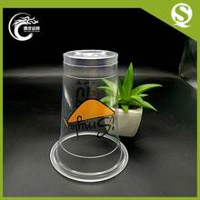 Eco-friendly plastic take away coffee plastic cup with dome lid