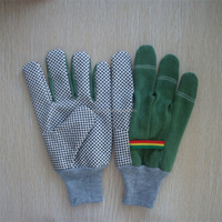 Cotton canvas rubber dotted gardening gloves