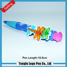 Factory price promotional fashionable colorful flower ball pens plastic
