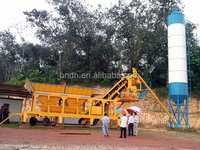 YHZS25 Mobile Ready Mixed Concrete Batching Mixing Plant for Sale at Best Price