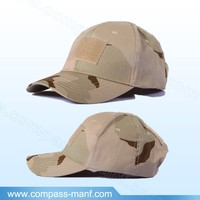 Light Camo Velcro Adjustable Baseball Tactical Cap with Velcro Patch