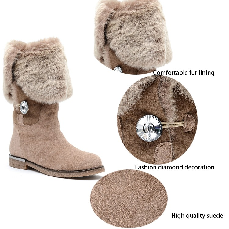 high quality china factory new style desert fur suede snow boot