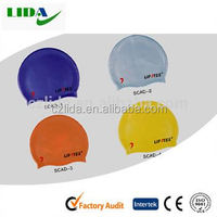 Supplies silicone cartoon swim caps in water sports