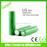 In stock! LG inr18650 mj1 3500mah battery 3.6v 10A lithium ion battery lg18650mj1
