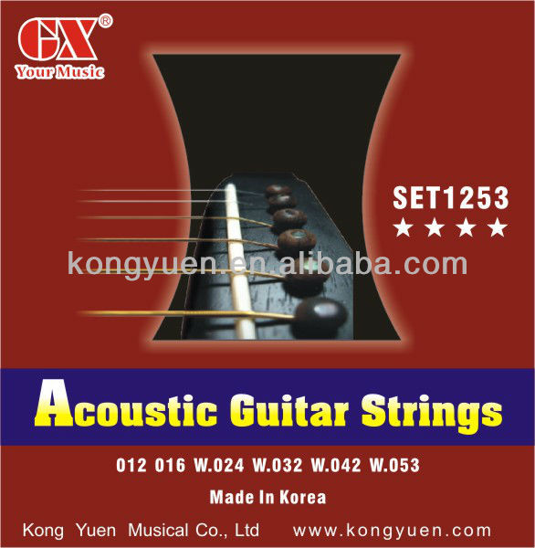 high quality acoustic guitar strings similar to fender string