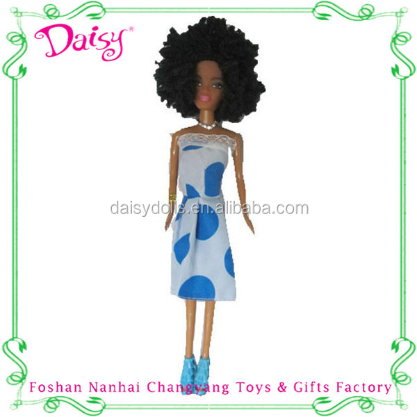 China wholesale long hair fashion vinyl african doll